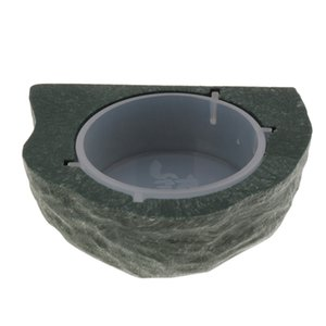Reptile Feeding Hooding Food Water Bowl Bowl Foder Bowl Coppa Tazza del bacino Contenitore per piccoli animali domestici