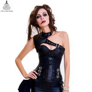 Ve Bustiers Zayıflama Korseler Çiçek Desen Sexy Lingerie Steampunk Korse Gotik Giyim Bodysuit J190701