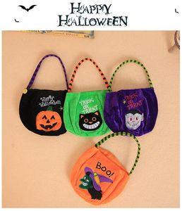 Materiali Halloween Bucket regalo Wrap Childs Candy Collection Borse Halloween borsa Spirit Festival cestino di immagazzinaggio del partito