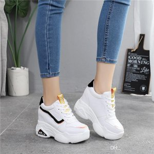 Hot Sale-New Casual High Platform Height Increasing Shoes 10CM Thick Sole Trainers Sneakers Woman