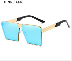 Sunglasses retro box sunglasses European and American trend dazzling marine film sunglasses ladies'Sunglasses