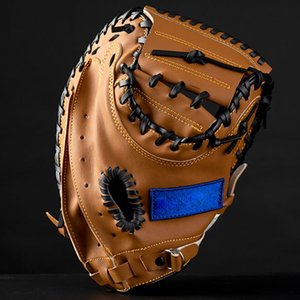 FDBRO Left Hand Adult Training Outdoor Sports Brown Black PVC Baseball Catcher Glove Softball Practice Equipment Size 12.5 Inch Other Golf P