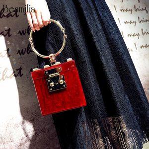 Borse da donna Borse da donna Designer Square Acrilico frizione borsa da sera in metallo polsiere mini sacchetto del partito forma tronco borsa da spiaggia borsa Y19061204