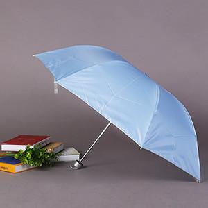 Bunte Drei-Falten tragbare 8 Knochen Regenschirm Nicht automatische UV-Schutz Regen Proof Regenschirm Wind Resistant Folding Regenschirme DH0989