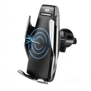 Car Mount Qi Cargador de coche inalámbrico Cargador usb rápido y rápido con sensor de infrarrojos Para iphone xs max iPhone 8 Samsung s10 Xiaomi mi 9