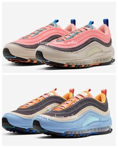 2020 Nova Rosa Veludo Azul Pacote de sean Wotherspoon Maxes 1 97s VF SW homens Low sapatilhas tênis para mulheres mens 1 dos homens do desenhista Sapatos