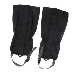 Outdoor Leg Gaiters Snow Legging Gaiter Cover for Hiking Walking Climbing Hunting, Black
