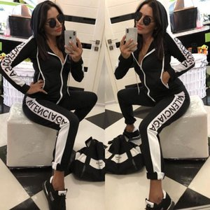 toptan Kadınlar Tasarımcı Eşofman Uzun Kollu T Gömlek Pantolon 2 Adet Set Tayt Tayt Spor Marka Gym Suit Kadın Giyim Giyim