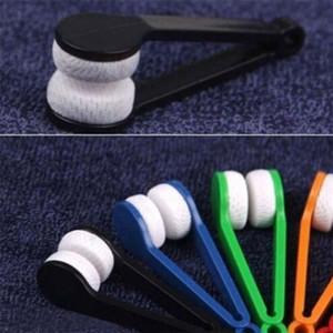 Новый Microfiber мини солнцезащитные очки Eyeglass Microfiber Brush Cleaner очистки очки инструмент чистой щеткой авто очистки аксессуары