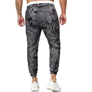 Feitong Fashion Hip Hop Sweatpant Printed Pants Men Casual Patchwork Loose Streetwear Trousers Man Joggers Pants