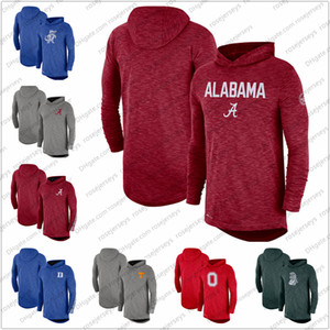NCAA Men Alabama Crimson Tide 2019 Sideline manches longues Performance capuche Taille Rouge Top Heather Gris S-3XL