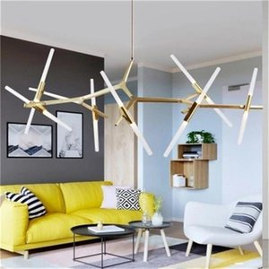 Modern LED Chandelier Crystal Pendant Lamps Fixture Square Surface Mounting Crystal Ceiling light Hallway Corridor Asile Lighting