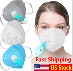 Vana Filtre Yüksek Verimlilik Filtrasyon Ağız Toz Maskesi Yeniden kullanılabilir Mask Nefes bulunan 5 Katman Sivil Maskesi