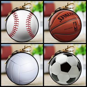 Baseball Fußball Münztüte keychain Halter 3d gedruckt Münzenmappe ändern Geldtasche Kinder Parteibevorzugungs Geschenktüte