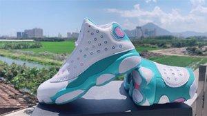 2020 nuevos de la llegada zapatos Jumpman 13 GS GS Aurora verde Zona de juegos de baloncesto femenino 13s Deportes zapatillas de deporte superiores 5.5 ~ 8.5