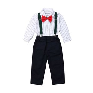 Pudcoco Brand New2PCS Toddler Kids Baby Boy Gentleman Shirt Tops y babero Ropa Trajes Conjunto