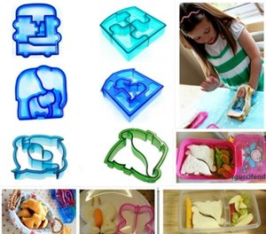 Sandwich Mould Cutter Bear Car Tetris Heart Shape Baking Cake Bread Toast Mould Maker Free shipping