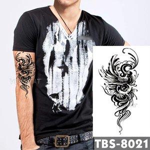 12x19cm Waterproof Temporary Tattoos Eyes phoenix Flash Tattoo Sticker Feather birds Tribal Totem Tatoo DIY Arm Fake Tattoo Men