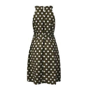 Halter Asymétrique Volants Tank Polka Dot Dress Femmes Sexy De L'épaule D'été Robe D'été 2019 Bohemian Beach Dress Dames Robe Longue
