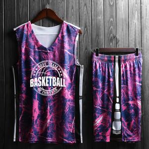 Basketbol Jersey Kamuflaj Basketbol Takım Elbise Eğitim Jersey Grubu Satın Alma Basketbol Erkek Diy Baskı Adı Serve Serve Serve