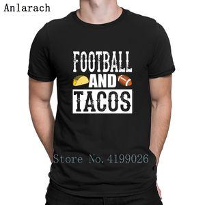Footballs And Tacos Funny T-Shirt Great Tops Branded Kawaii T Shirt For Men O-Neck Customized Streetwear Anlarach
