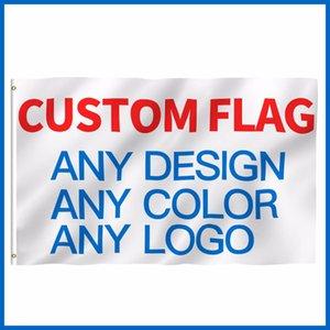 Custom impresso Bandeira Company Logo Publicidade desporto ao ar livre bandeira bandeiras Bandeiras de latão grommets Bandeiras Banners Acessórios