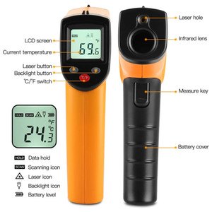 Digital Temperature GM320 Infrared Thermometer Non-Contact Temperature Meter Pyrometer IR Laser Point Gun -50~600 C LCD