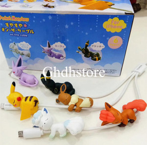 Hot New 6Pcs Lot 5CM Mini Cable Clip PKC Eevee Alola Vulpix Umbreon Espeon #2 Figure Anime Collectible Action Figures Party Gifts Toys