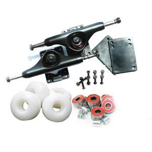프로 스케이트 보드 전체 요소 알루미늄 5 인치 스케이트 보드 트럭과 푸 스케이트 휠 로다 요소 ABEC-9 베어링 Jpyzx