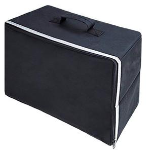 Oxford pano Organizador lavável com zíper maleta Dustproof lidar com o armazenamento dobrável Viagem de costura Home tampa da máquina
