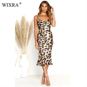 Wixra 2019 New Hot Summer Women Dress Spaghetti Strap Long Party Dress Abbigliamento da donna sexy slim