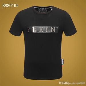 Erkek gömlek 2019 yaz New tişört Avrupa ve Amerika erkek tişört moda hip hop baskı Skul pamuk erkek tişört H15