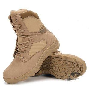Stivali da combattimento alti resistenti all'usura, stivali tattici sportivi scarpe da trekking outdoor sport all'aria aperta comfort traspirante spedizione gratuita