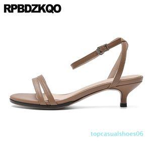 women sandals 2019 summer low heel slingback female stiletto luxury pumps shoes ladies open toe ankle strap designer fashion