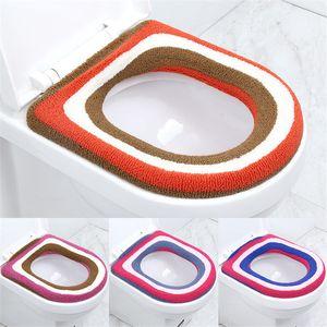 Suave Cálido Cubierta de asiento de inodoro de felpa Estera Cómoda Lavable Calentador Inodoro de salud Closestool Cubierta de asiento 24 colores