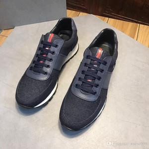 2019 Uomo Classico in vera pelle Arena Appartamenti di marca Sneakers Sneakers alte da uomo Scarpe di lusso casual casual con lacci xg18091403