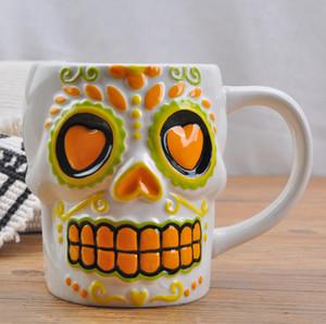Ücretsiz kargo Yaratıcı Coco Film Kafatası 3D Süt Kahve Kupası Kupa İçecek Yüksek kapasiteli Ofis Seramik Kupa Doğum Günü Hediyesi