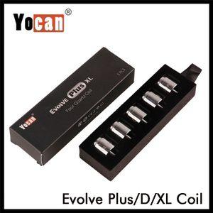Authentique Yocan Evolve Plus XL Evolve D Pandon Regen QTC Bobine CDQ céramique Quad Core tête Vaporizer Kit bobine 100% Original