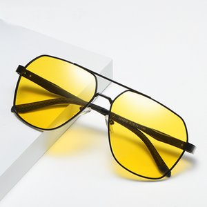 New Polarized Sun Glasses Night Vision Mirror Aluminum Magnesium Alloy Large Frame Sunglasses Polarized Driving Eyewear 201978