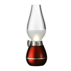Lampada Retro lampade a LED di illuminazione della novità USB ricaricabile Blowing cherosene Colpo regolabile On-Off Night Light casa