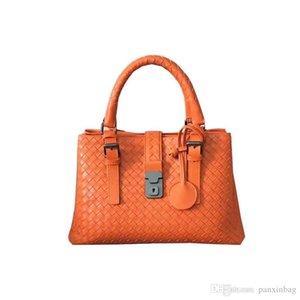 Neue Schaffell Strickhandtasche Europa-handgemachtes gesponnenes LEATHER BAG Allgleiches Frauen Schultertasche weibliche Satchel
