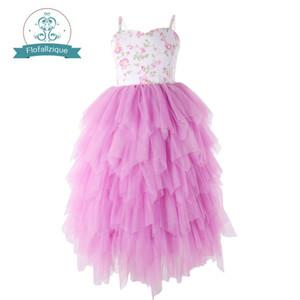 Flofallzique Mädchen-süße ärmellose lange Art für Partei-Hochzeits-Weihnachten des Kind-Ballkleid-Kleides 1-8y Y19061801