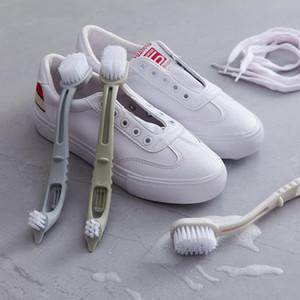 Brosse de nettoyage pour chaussures Multifonction Chaussures Brosse Double bout pinceau brosse Cleaner blanc chaussures Cleaner Sneaker Cleaner Kit Salle de bains Kichen Outil