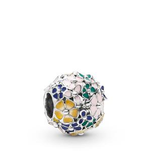2019 printemps 925 en argent Sterling émail multicolore classique arrangement de fleurs perle charme pour européen Pandora bijoux charme bracelets