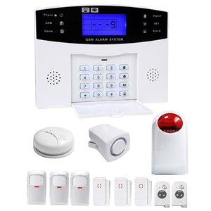 YA-500-GSM-27 12 in 1 Kit Wireless 315 433MHz GSM SMS Security Home House Burglar Alarm System with LCD Screen