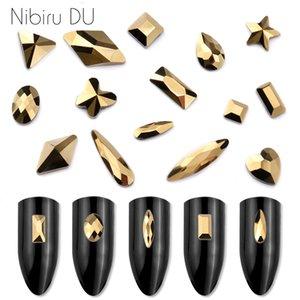 heap strass Decoração 20pcs Aurum Cristais prego Diamante Pedra Strass Dourado Retro Glass Design strass para 3D Nails Art Decora ...