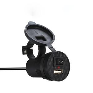 Moto USB caricabatteria da auto con interruttore 1.5 A impermeabile scooter modificato Caricatore Del Telefono Mobile 12 V