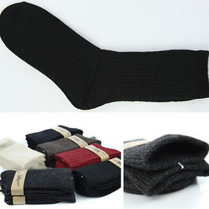 Inverno Army Mens Socks longo Knee High Socks militar de lã térmica de espessura Meias Tamanho 9 to11