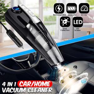 4-in-1 4000mPa Car Handheld Vacuum Cleaner & Digital Tire Inflator Pump Pressure Gauge LED Light Vacuum Cleaner for Home Auto