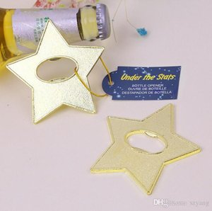 """Under The Star"" Gold Star Beer Bottle Opener Party Souvenir Wedding Favors Gift And Giveaways For Guests SN1467"
